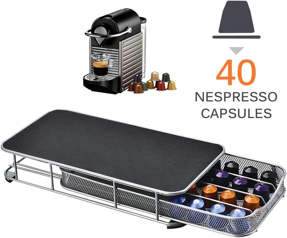 OurLeeme Soporte para cápsulas de café, 40 cápsulas Soporte de cápsulas de café duradero Cajón de cápsulas de café para Nespresso (Estilo 2): Amazon.es: Hogar