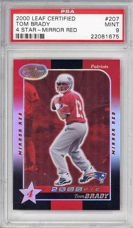 Tom Brady 2000 Leaf Certified 4 Star Mirror Red Football