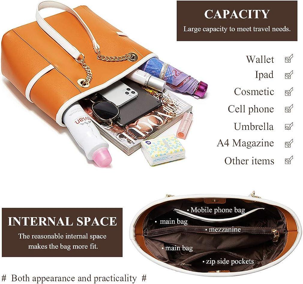 Pahajim Purse and Handbags Set Pu Leather Crossbody Shoulder Bag Messenger Tote Bags Large Capacity Women Laptop Work Handbags