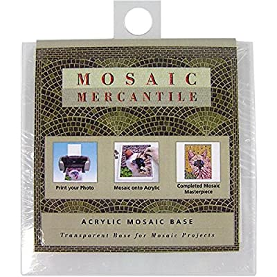 Mosaic Mercantile Acrylic Coaster Base, 4-Square Inch, 2-Pack