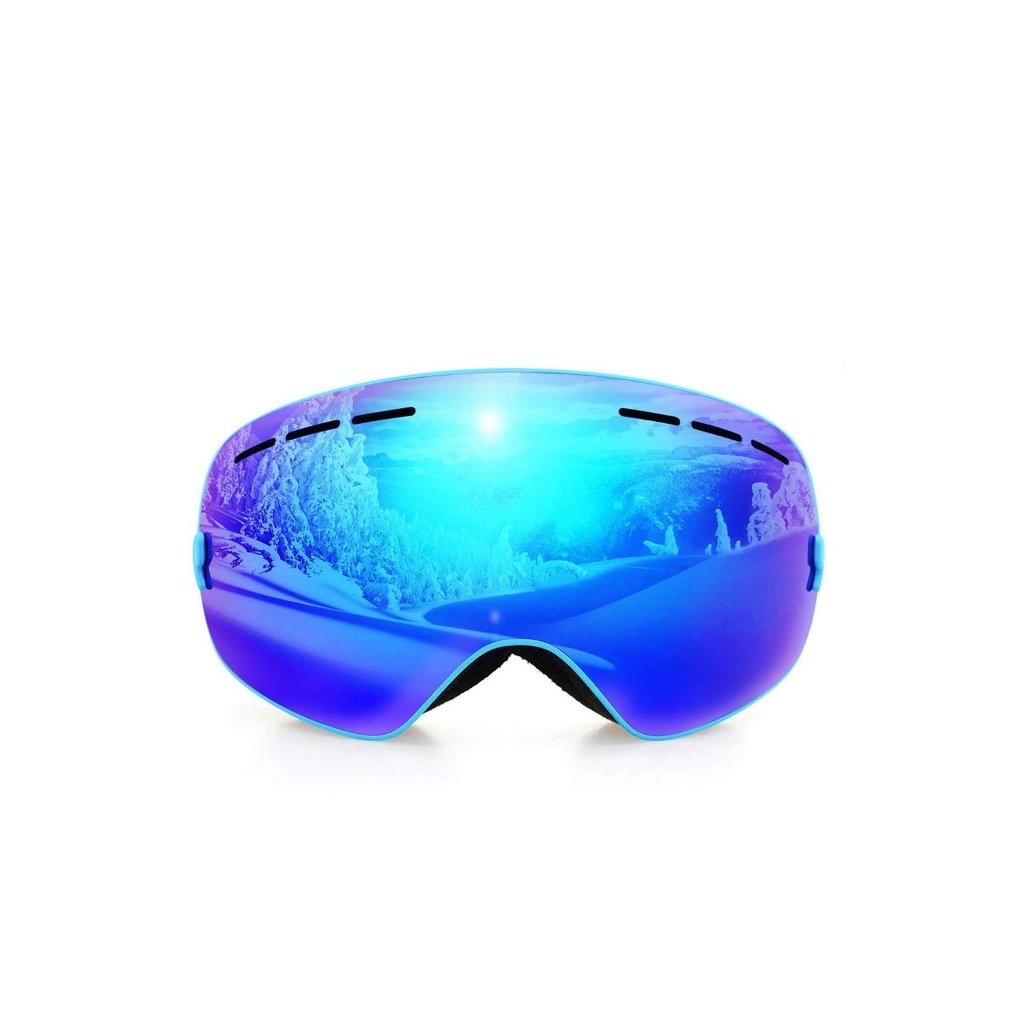 Frame blueee1 Snowboard Skis with Night Vision Ski Lens Snow Eyewear Adult