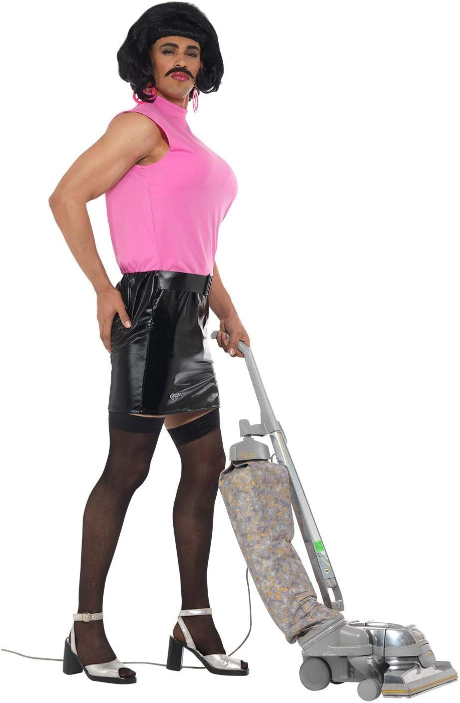 Pink//Black 38-40-Inch Medium Smiffys 43192M Queen Break Free Housewife Costume
