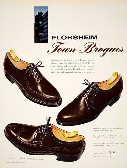69c016ce8203e 1960 Ad Vintage Florsheim Town Brogues Shoes Mad Men Fashion 60s ...