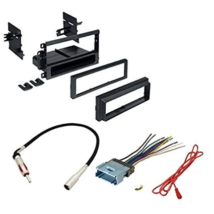 amazon com car stereo cd player dash install mounting kit wire  car stereo cd player dash install mounting kit wire harness radio antenna for buick cadillac chevrolet