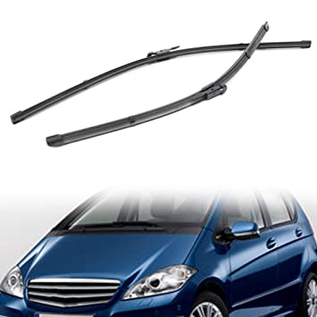 Timmart 2pcs parabrisas delantero limpiaparabrisas cuchillas para Mercedes Benz A W169/B W245 2004 - 2012: Amazon.es: Coche y moto