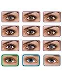 Freshview - Lente de color, sin corrección, diseño de fantasía, anuales, válidas para 1 año, nuevas, colores gris, verde, azul, marrón, púrpura