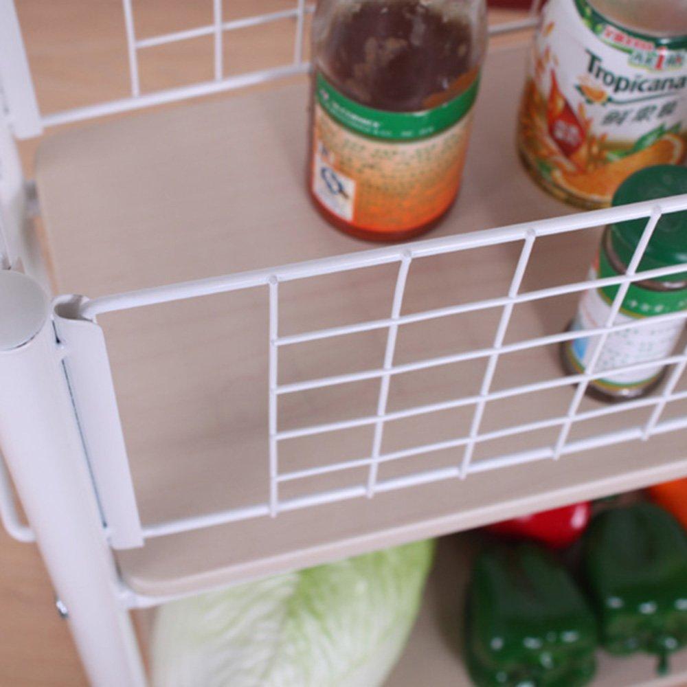 ZZHF yushizhiwujia Estante Cocina de arroz Estante de leche de soja Mesa de centro Marco lateral Estante de almacenamiento de cocina Marco lateral de baño ...