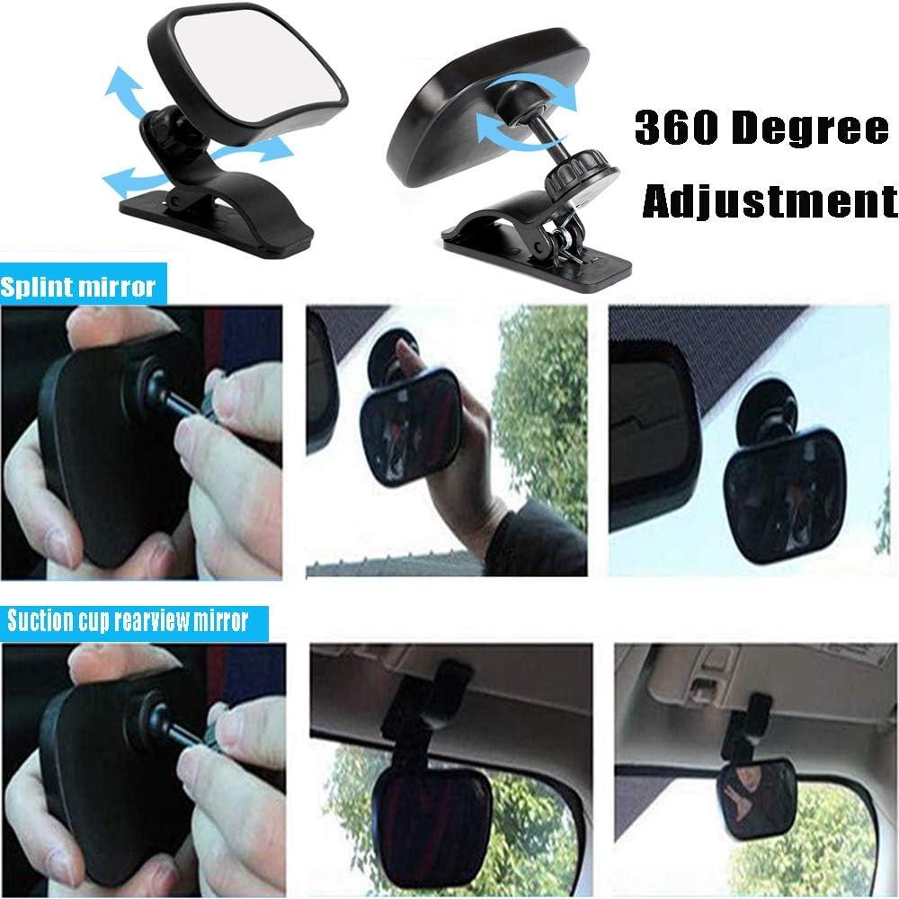 Ajuste universal 360/°Ajustable Irrompible 100/% Inastillable Espejo Coche Espejo Retrovisor Coche Espejo Retrovisor Beb/é para Vigilar al Beb/é en Coche Negro