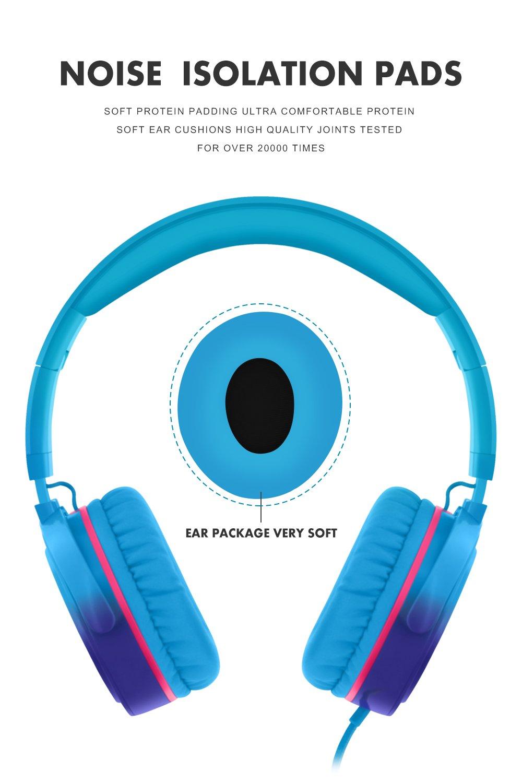 Rockpapa Grade On Ear Headphones Foldable with Microphone,