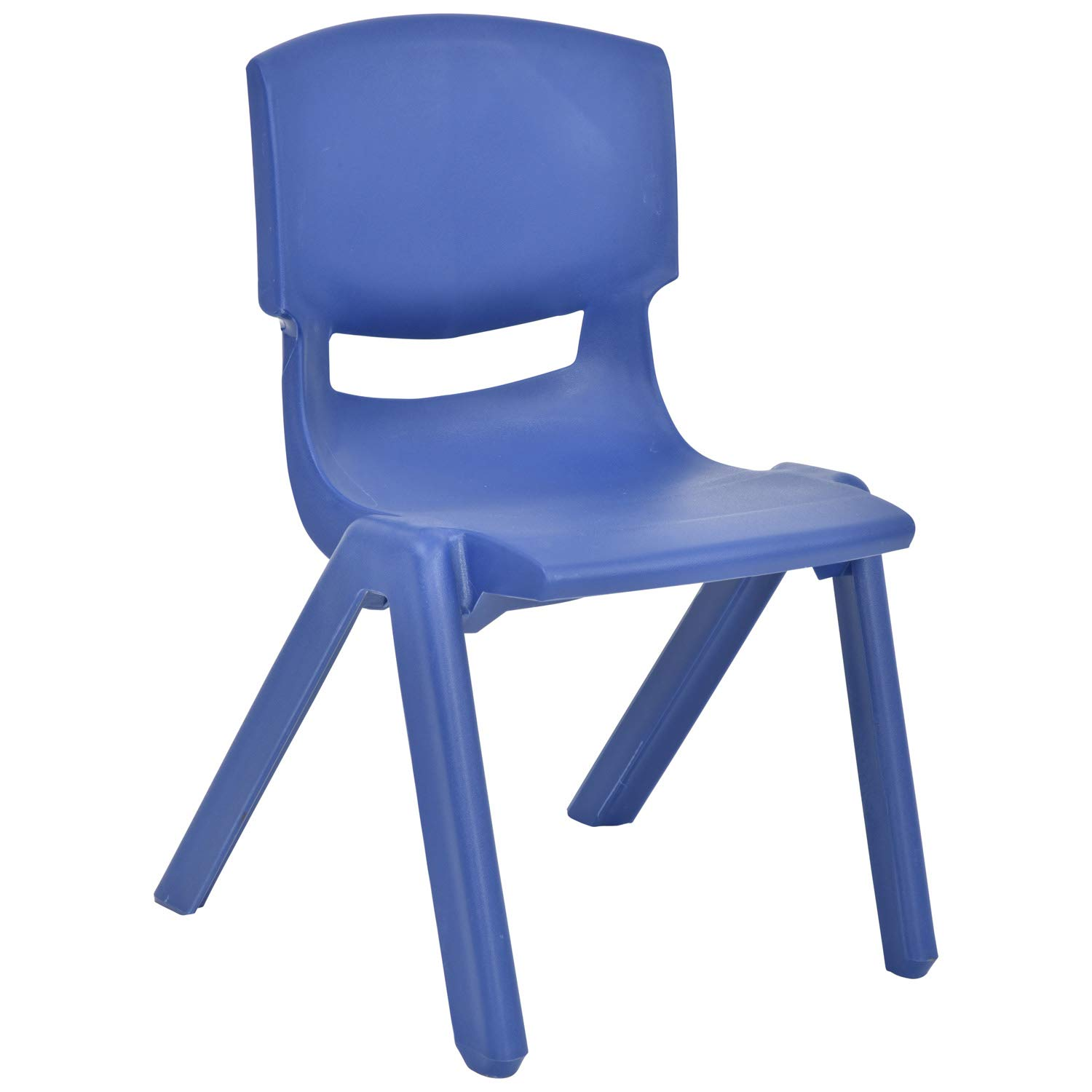JOON Stackable Plastic Kids Learning Chairs, 20.8x12.5 Inches, The Perfect Chair for Playrooms, Schools, Daycares and Home (Dark Blue)