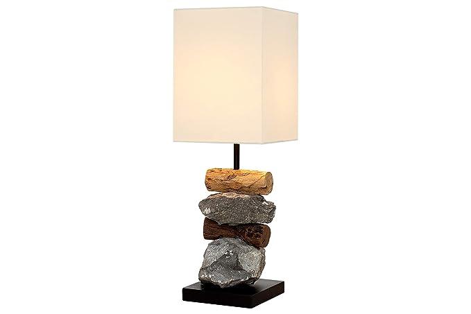 DuNord Design Lámpara de mesa lámpara de mesa Madera con ...