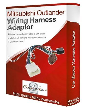 mitsubishi outlander cd radio stereo wiring harness amazon co uk rh amazon co uk mitsubishi stereo wiring diagram mitsubishi radio wiring harness