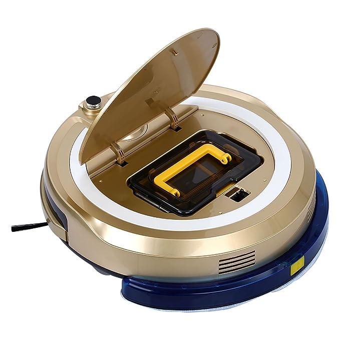 jisiwei i3 WiFi staubsaug Robot con carga Sation, cámara, App controlan para suelo duros, Oro dorado: Amazon.es: Hogar