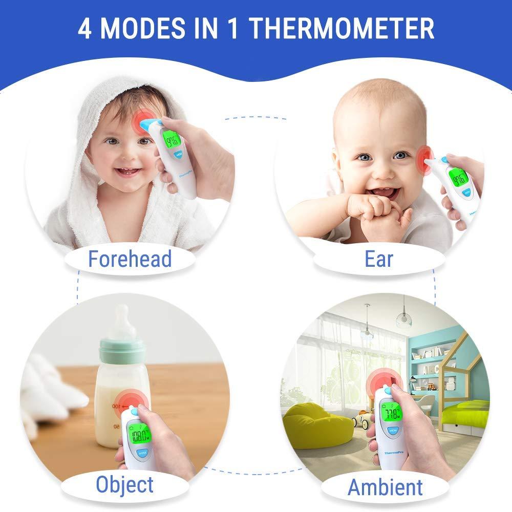 Adultos Objetos Funci/ón de Memoria para Ni/ños Alarma de Fiebre ThermoPro Term/ómetro Digital Frente y O/ído Ambiente Term/ómetro M/édico Infrarrojo para Beb/és con Lectura Instant/ánea