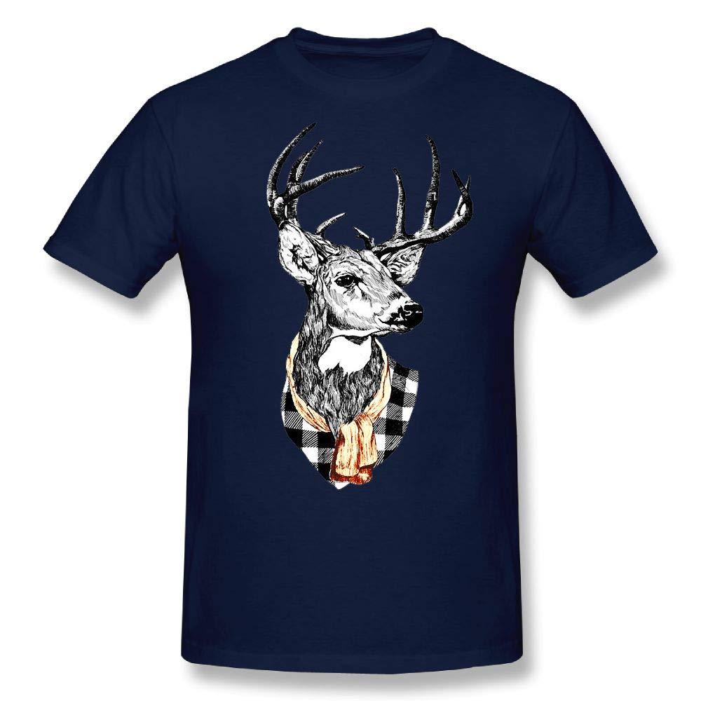 Cenjoan Color Antlers Short Sleeve T Shirt Tee S