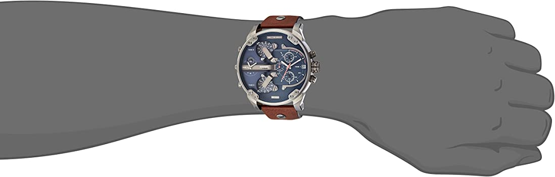 aaed5ed68517e Amazon.com  Diesel Men s Mr Daddy 2.0 Quartz Stainless Steel and ...