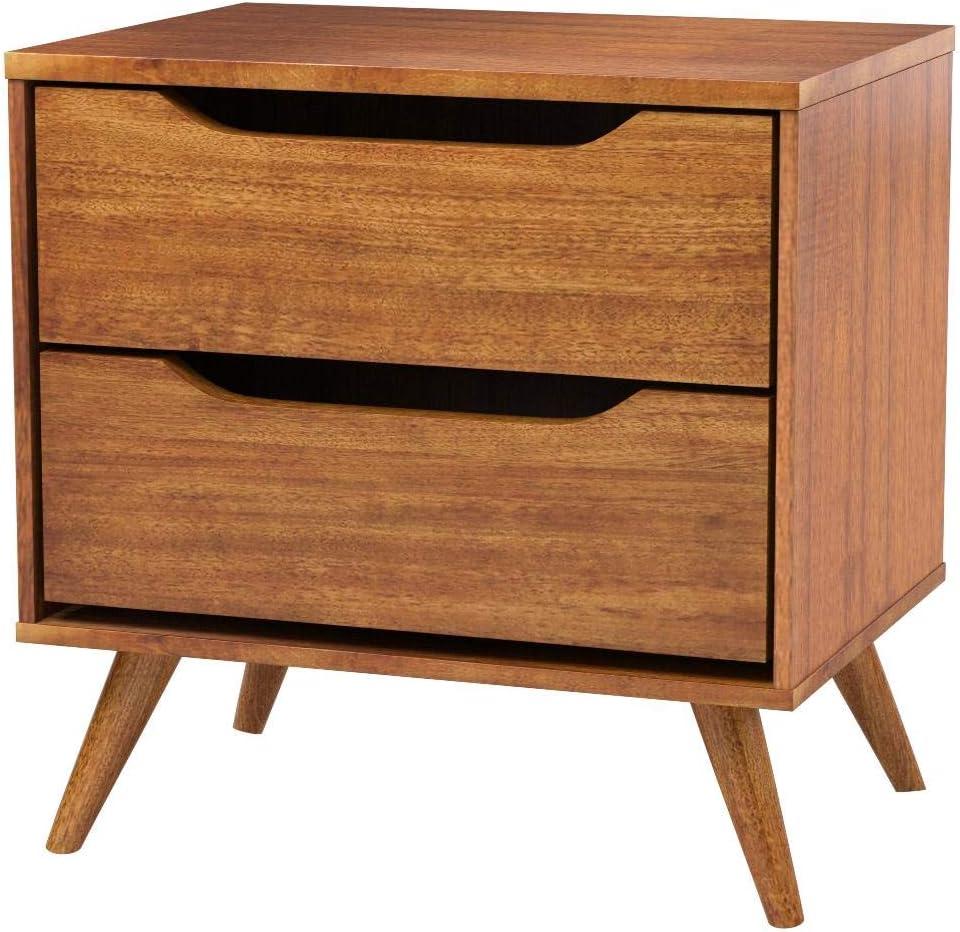 Furniture of America CM7386A-N Lennart Oak Nightstands, 24 H