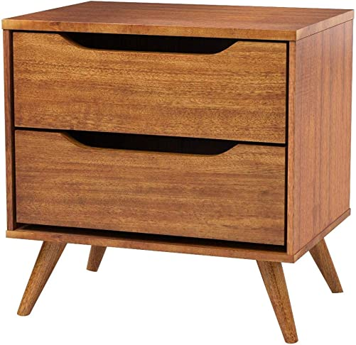 Furniture of America CM7386A-N Lennart Oak Nightstands, 24 H