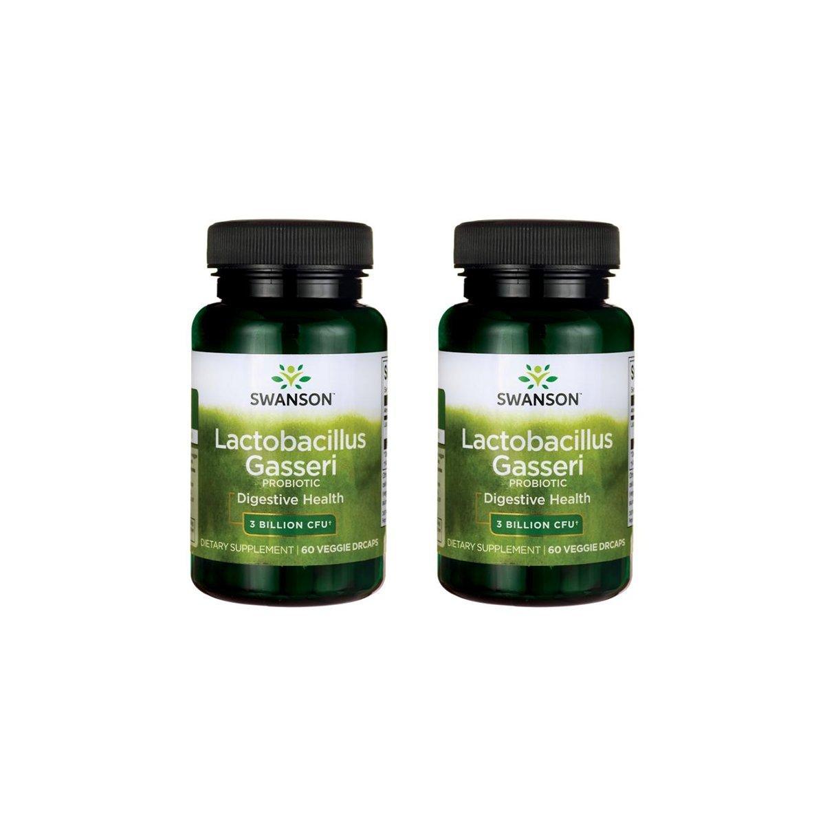 Swanson Lactobacillus Gasseri 3 Billion CFU Digestive Health Fat Metabolism Satiety Probiotic Supplement 60 Veggie Capsules (Acid-Resistant Designed-Release) (2 Pack)