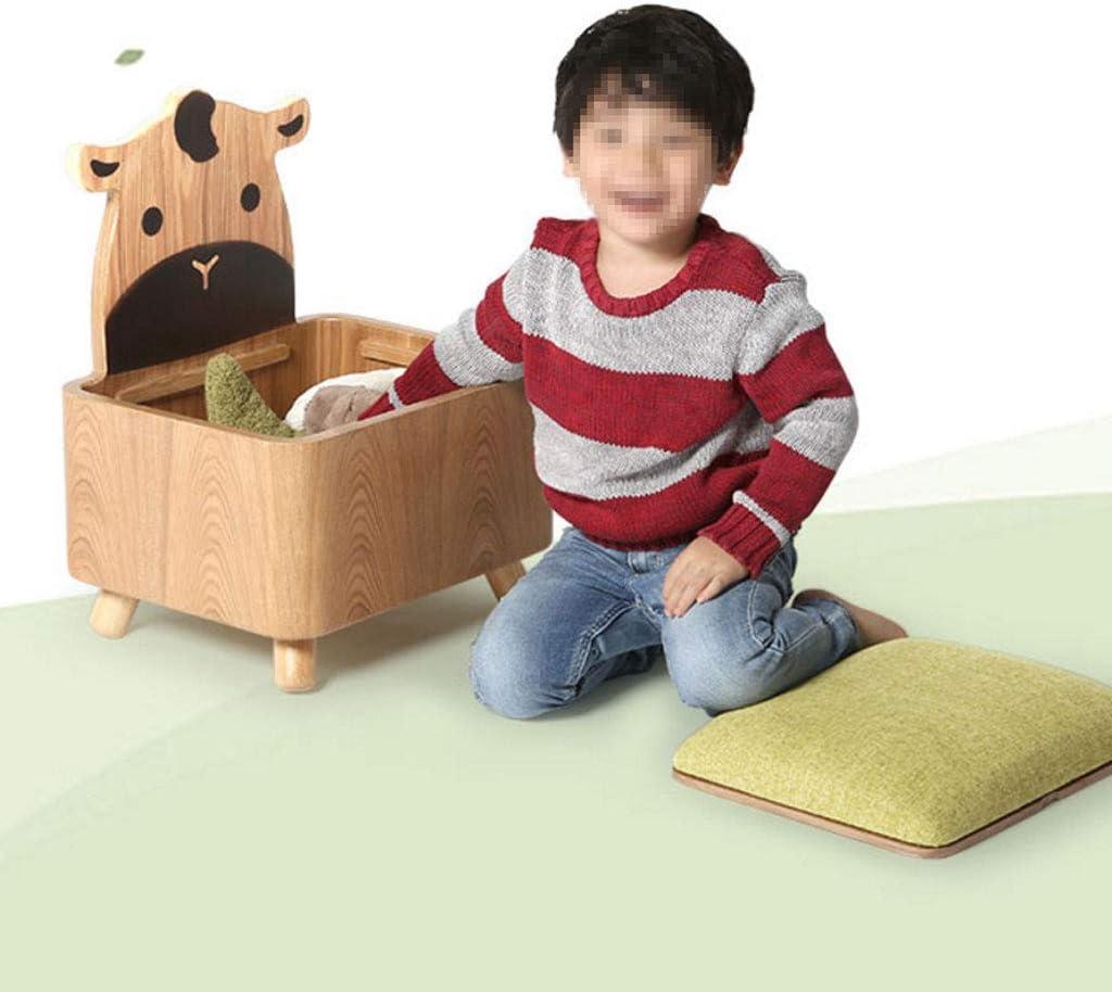 AOLI Lagerung Ottoman Kinder Sofa Reversible Beistelltisch nette Prinzessin Hocker Lagerung Lagerung Hocker Rückenlehne Stuhl),Blau (Esel) Blau (Kuh)