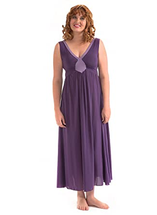 52f35f14e207 Precious Curves Women s Hestia Full Length Nightgown Small Multicolored