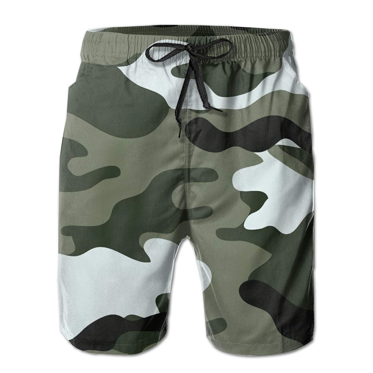 KGNVNA Army Camouflage Mens Slim Fit Ultra Quick Dry Board Shorts Swim Trunks,Best Board Shorts for Sports Running