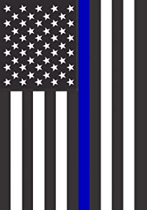 Toland Home Garden Thin Blue Line USA 28 x 40 Inch Decorative Support Police Law Enforcement House Flag