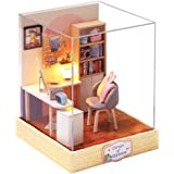 CUTEBEE Dollhouse Miniature with Furniture, DIY Dollhouse Kit Plus Dust Proof, 1:24 Scale Creative Room for Valentine's Day G