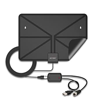 tv antenna booster. hdtv antenna,victony indoor amplified tv antenna with detachable amplifier 50 mile range signal tv booster