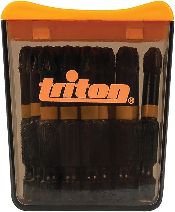 Triton Tpta51809018 Pz2 50mm Pozi Screwdriver Impact Bit pack Of 15 Black