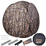 AW Portable 1-2 Person Pop Up Hunting Blind Tent 300D with Carrying Bag 60''x60''x68'' Camo Hub Polyester Fibre Outdoor
