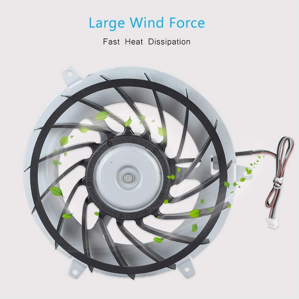 Diyeeni Ventola di Raffreddamento Interna Grande Forza del Vento Design ergonomico Ventola di Raffreddamento Interna Dissipazione di Calore Rapida Ventola di Raffreddamento Adatta per PS3