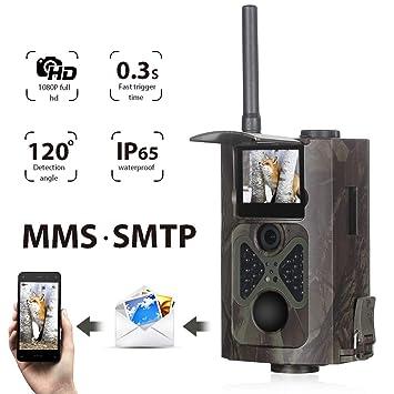 Cámara de Caza Suntek Vigilancia 16MP, 1080P Trail Cámara IP65 Impermeable, 28 pcs IR