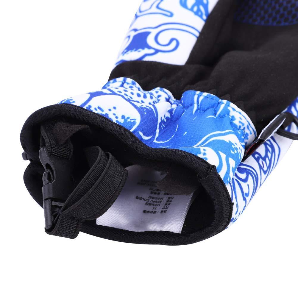 Dilwe Guanti da Sci Guanti Impermeabili con Tre Dita Guanti isolati con Cerniera per Ciclismo Ciclismo Snowboard Running Cold Weather
