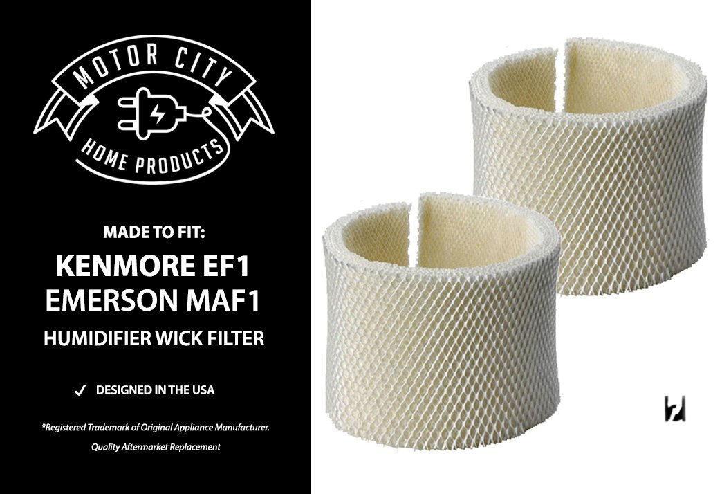 Kenmore EF1 and Emerson MAF1 Compatible Humidifier Wick Filter Motor City Home Products Brand Replacement (2)