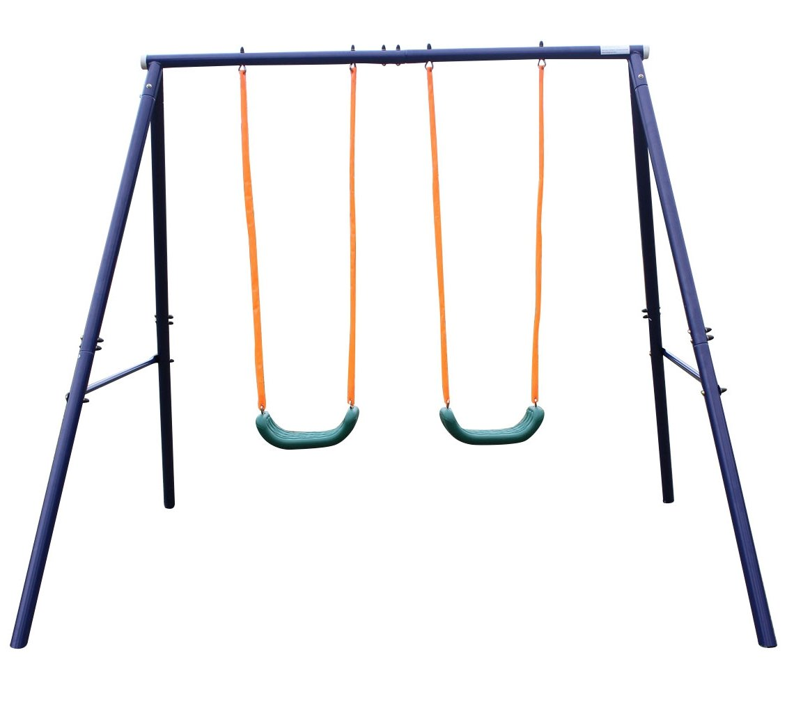Movement God metal swing set