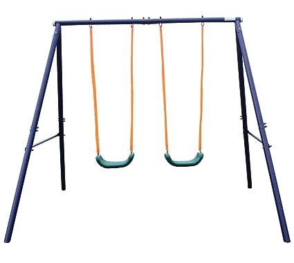Movement God Metal A-Frame Two Seat Swing Set