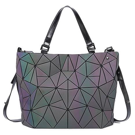 0903de9d99d Amazon.com: Diamond Tote Geometry Shoulder Bags Plain Folding ...