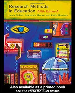 Book Research Methods in Education