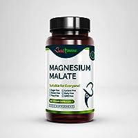 Hoogwaardig magnesiummalaat 500 mg = ideale sterkte 100 Veganistische capsules Hoogste biologische beschikbaarheid…