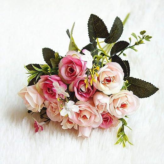 Sosteniendo flores Decoración Del Hogar Flor Falsa Para Jardín Planta Escritorio Decoración Boda De La Flor De La Mano: Amazon.es: Jardín