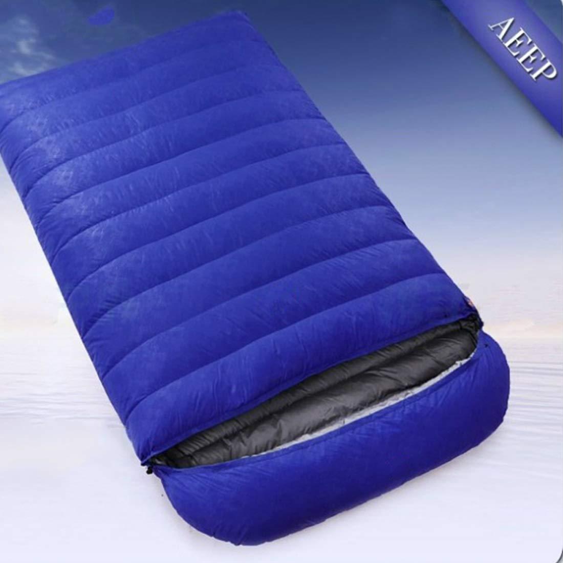 Wanc 旅行用、キャンプ用、ハイキング 遠足 超軽量 寝袋 B07KQRLG44 ブルー 1000g 1000g|ブルー