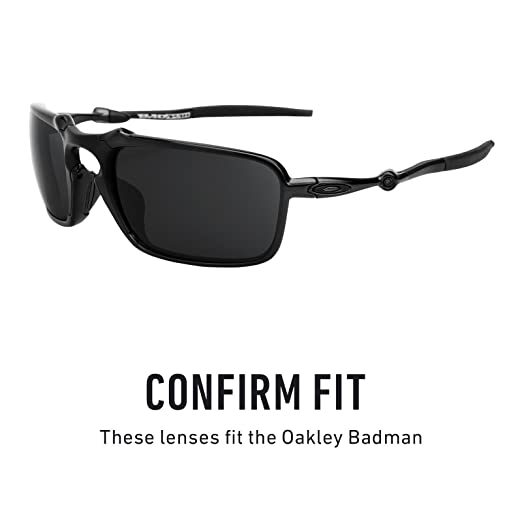 87c4e76f66 Amazon.com  Revant Polarized Replacement Lenses for Oakley Badman Elite  Black Chrome MirrorShield  Sports   Outdoors