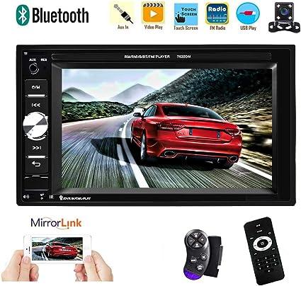 "7/"" 2 DIN Car Stereo Radio MP5 MP3 Player Bluetooth Remote Control FM USB AUX-IN"