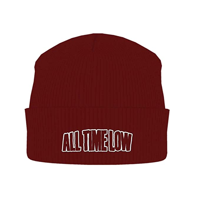 5a9adab40 Amazon.com: All Time Low Beanie Hat Cap Band Logo Official Red Size ...