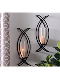 Set Of Two Metal Wall Sconce Home Decor