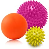 Sanlike マッサージボール 触覚ボール リフレックスボール 筋膜・筋肉をピンポイント圧迫で解きほぐす Massage Ball 3個セット
