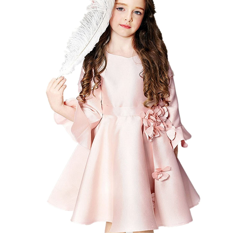 Fanessy Rosa Blumenmädchen Hochzeit Partei Kommunion kleid kostüm ...