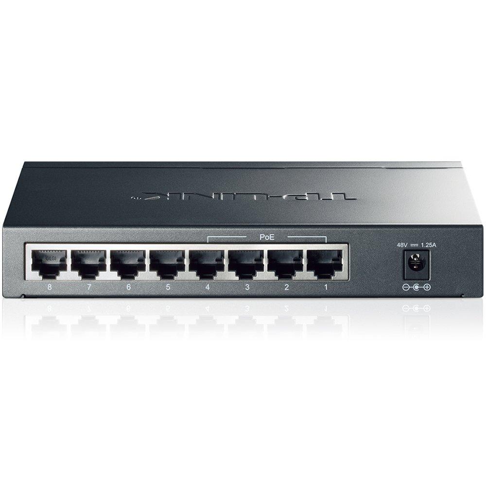 TP-Link PoE Switch Gigabit 8 Port | 4 Port PoE 55W | 802.3af Compliant | Shielded Ports | Traffic Optimization | Plug and Play | Sturdy Metal (TL-SG1008P) by TP-LINK