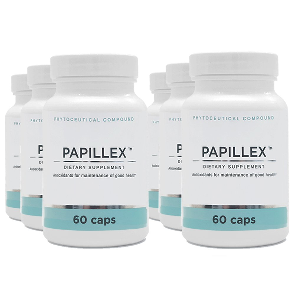 Dietary Supplement tablets by PapillexTM | Naturally Respond to HPV | Human Papillomavirus | 60 capsule bottle (6 Pack)